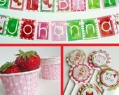 Strawberry Birthday Party Decorations Package Fully Assembled