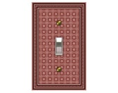 0112b - Mauve Bkgd Design Switchplate - Mrs butler   (choose size/price from dropdown)