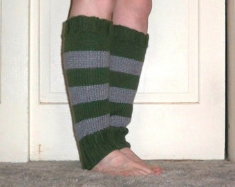 Leg Warmers in the Colors of Slytherin House