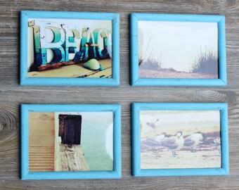 Beach Framed Photography Collection for Coastal Home Decor , Nautical Wall Frame Gallery , 5 X 7 Fine Art