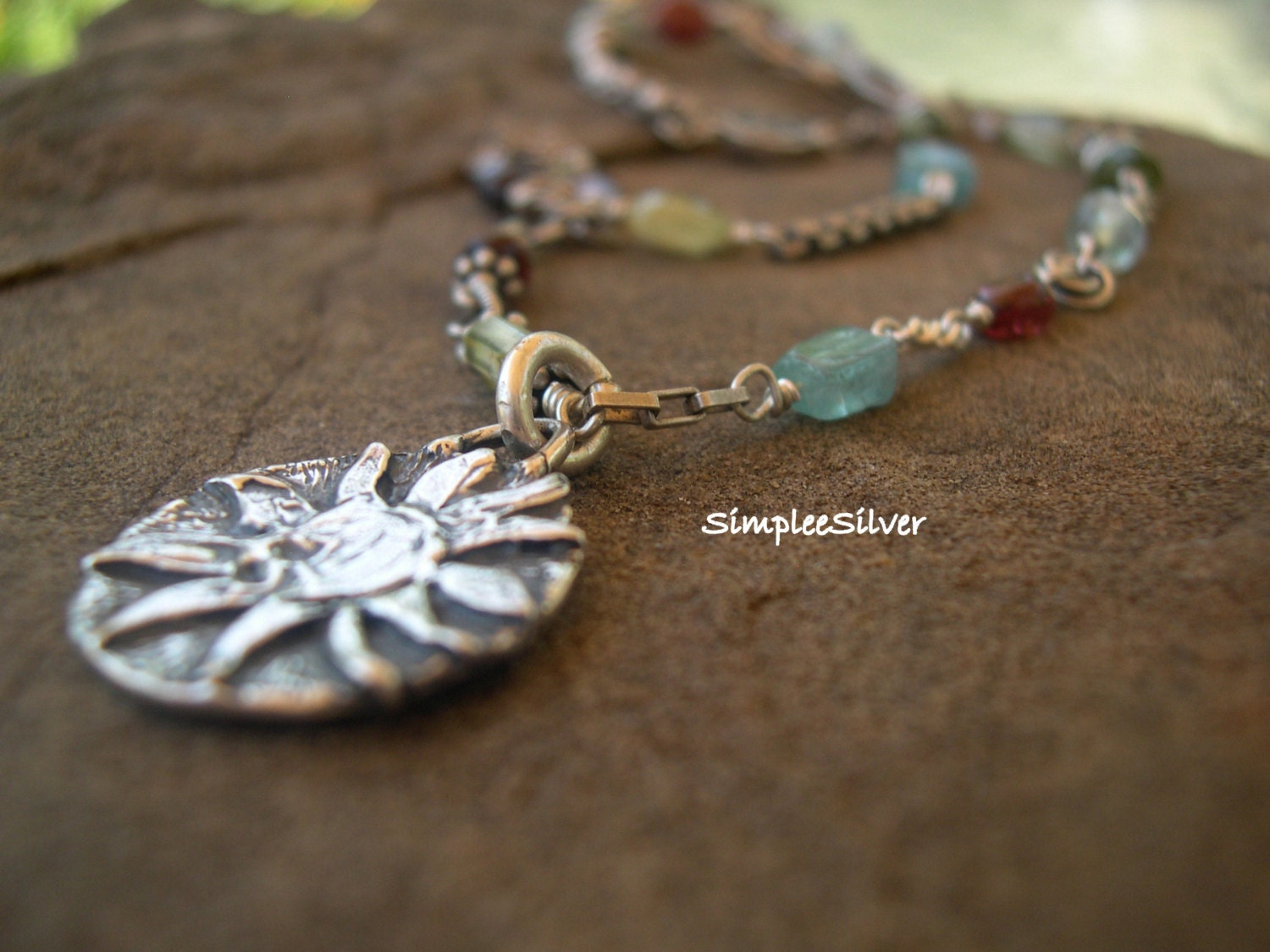 TURQUOISE PENDANT 925 STERLING SILVER ARTISAN JEWELRY ...  |Newest Silver Artisan Jewelry