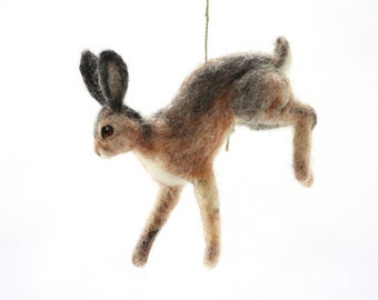 Felted Miniature Hare, Hanging figure