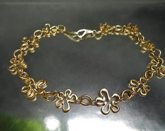 Carol Lee Sterling Silver Vermeil Necklace Flowers