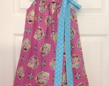 Ready to Ship! Size 7 Frozen Pillowcase Dress