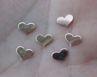 Gold Filled or Rose Gold Filled Heart Stampings(5mm x 7mm)