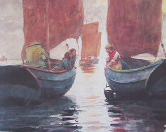 Winslow Homer, Afterglow, Color Plate Of 1883 Watercolor, Unframed Print