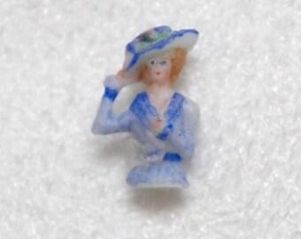 Half Doll Vintage Bisque Artist  Miniature