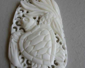 You Will Find Me at the Sea                 Hand carved Sea Turtle Necklace    Matching Earrings