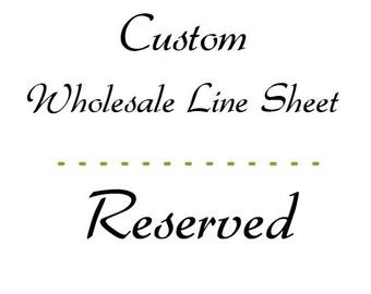 Custom Reserved - Altered line sheet