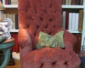 Pink velvet Tufted Doll Chair RESERVED FOR M