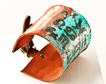 Leather Cuff Bracelets, Leather Wristbands, Leather Jewelry For Her, Women's Leather Wrist Cuffs