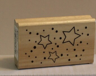 Stars at Night Background Rubber Stamp