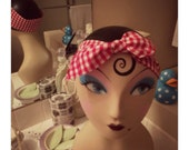 Retro knotted woman's or girls headband, pin up, sexy, rock a billy, hair care, cosplay, 1950's, costume, hair do, accessory