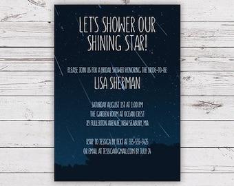 Printable Bridal Shower Invitation - Meteor Shower