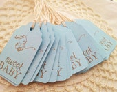 Baby Shower Mini Tags Duck Toy Its a Boy Nail Polish Favor Tags Set of 25