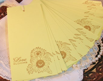 SALE Wedding Wish Tree Tags Sunflower Love Blooms Garden Hang Tags Set of 25