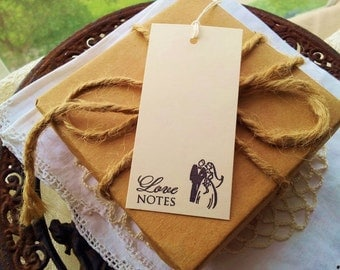 Mini Wedding Wish Tree Tags Love Notes Bride and Groom Bridal Shower Favor Tags Set of 30
