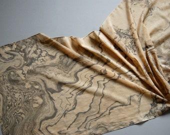 Marbled Scarf: Suminagashi Print xvii