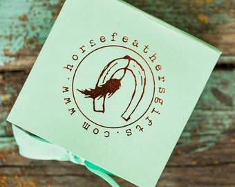 Eco-friendly gift wrap for your HorseFeathers Gifts handmade in the USA jewelry