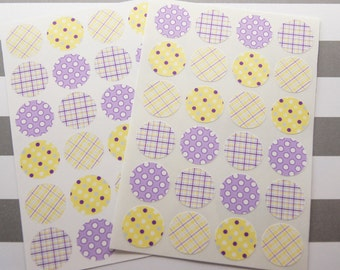 Stickers Envelope Seals Purple Stickers Dots Plaid Calendar Stickers Reminder Stickers Planner Stickers 24 SES241a