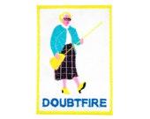 Mrs Doubtfire Robin Williams Iron On Patch