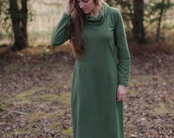 Mill Creek Organic Cotton Maxi Dress Long Sleeve Dress Made in the USA - Organic Cotton Clothing