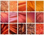 Luxurious Dupioni Silk Custom Pillow Covers Made from the Finest Pure Hand Made Dupioni Silk - Gold, Orange, Yellow