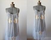 1960's Blue Wisp Gown • 1960's Sleepwear • Mad Men Loungewear