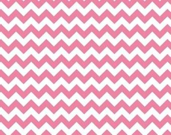 Hot Pink Small Chevrons Fabric by Riley Blake Designs - Half Yard -1/2 Yard - Zig Zags