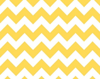 Yellow Medium Chevrons Fabric by Riley Blake Designs - By the Yard - 1 Yard