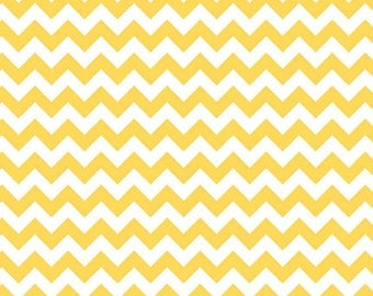 Yellow Small Chevron Fabric from Riley Blake Designs - by the Yard - 1 Yard - Zig Zags - C340-50
