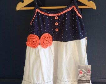 Upcycled girls dress size 2