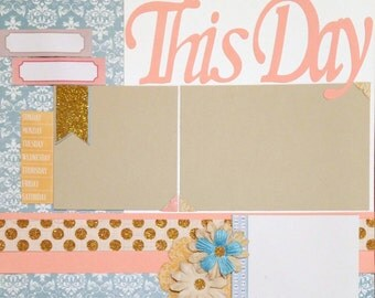 Scrapbooking Layout 2 Page Kit Premade Anniversary Blessing Baptism Birthday