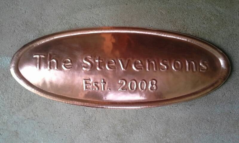 Gifts For 7th Wedding Anniversary: Personalized Copper 7th Wedding Anniversary Gift
