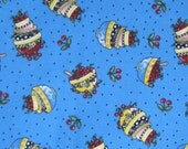 SALE!! Bowlies Fabric - 1 Yard - 100% Cotton