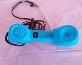 Vintage Blue Linemans  Push ButtonTelephone