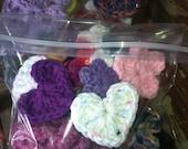 Destash - Grab bag of Flowers, Appliques, Embellishments, Cotton, Acryllic