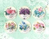 Stickers, Tea Cups, Florals & Tea, Sticker Seals, Flower Stickers, Tea Time
