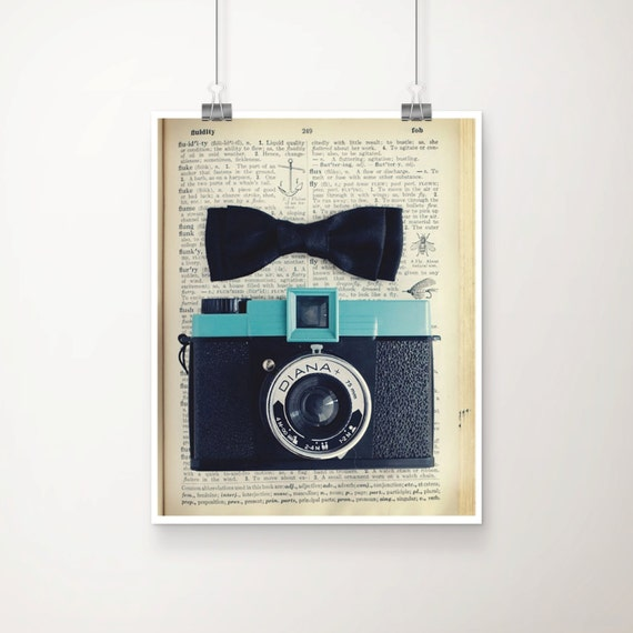Little Charmer Fine Art Print, Signed--Vintage Whimsical Camera and Black Bow Photograph Wholesale