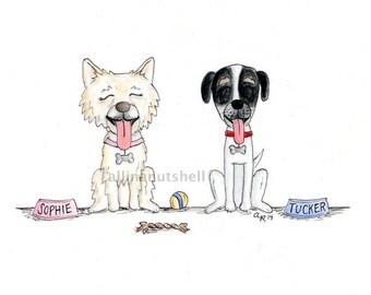 Custom Hand-drawn Pet Caricature
