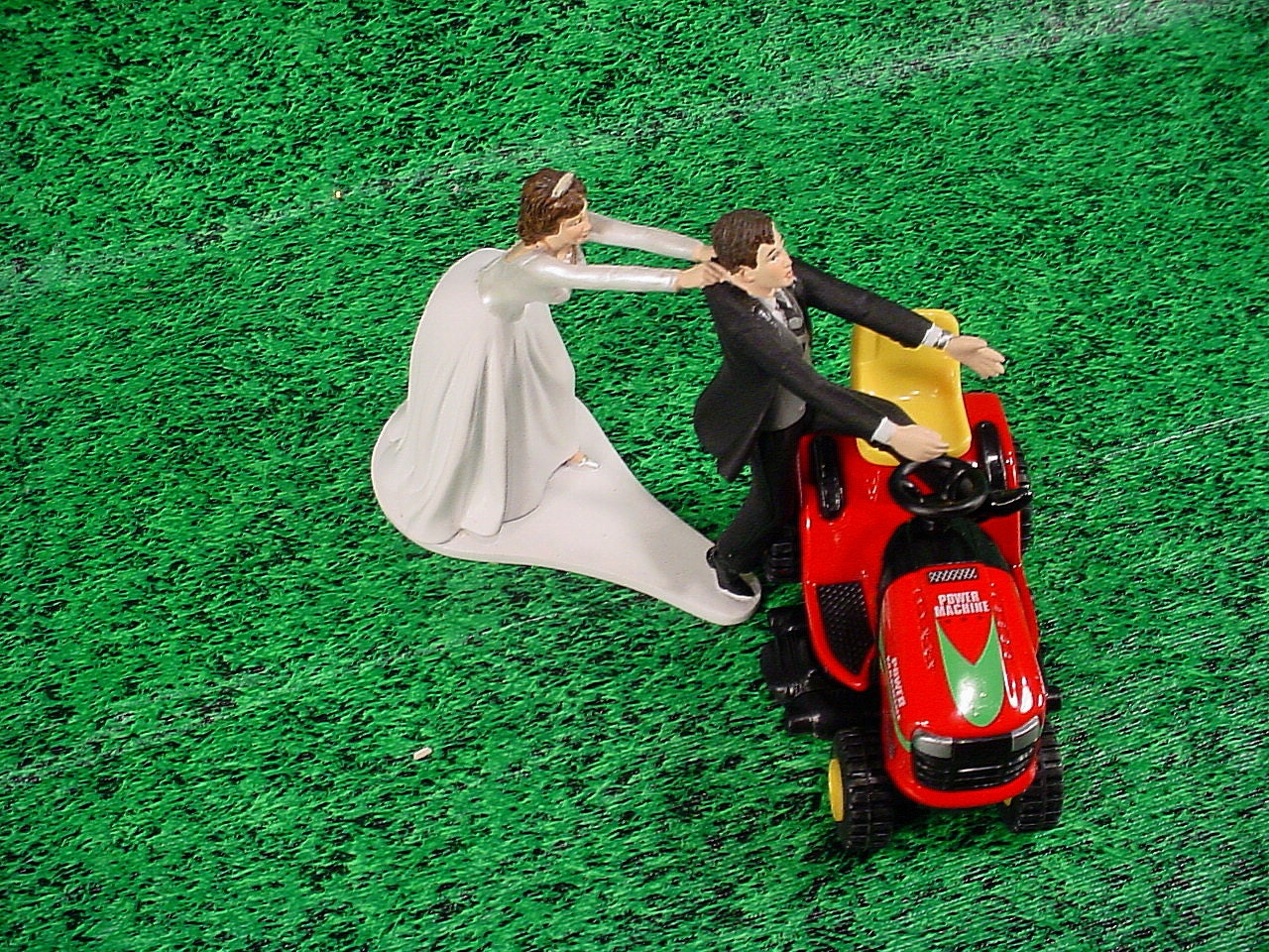 No Lawn Grass Cutting Red Lawn Tractor Custom Groom s