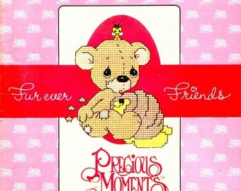 Precious Moments Fur Ever Friends Love Friendship Sharing Inspirational Memories Counted Cross Stitch Embroidery Craft Pattern Leaflet PM-5