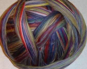 Roving, Wool Roving, Merino Roving, Merino Wool Roving, Felting Wool, Spinning Wool, Merino-Multi Color - Granada - 8oz