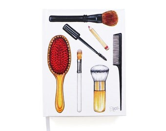 Beauty Brushes Illustrated Journal Notebook