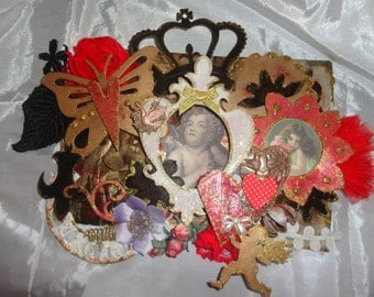 Moulin Rouge Wall Hanging Mixed Media Original