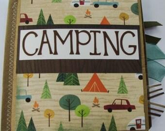 Camping Paperbag Scrapbook