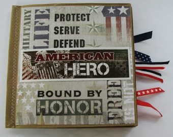 Military Paperbag Scrapbook
