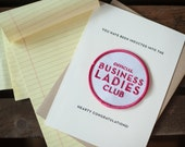 Business Ladies Club - letterpress card & embroidered patch