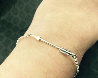 Arrow Bracelet- BREATHE BRAVELY bracelet- CF Jewelry- Cystic Fibrosis Research- cf arrow bracelet