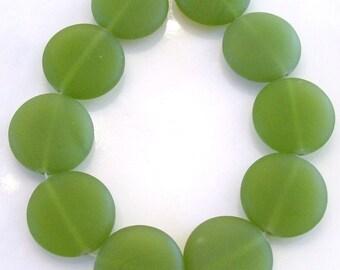 Green Australian Glass Beads